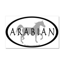 Arabian Horse Text & Oval (gr Car Magnet 20 x