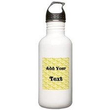 Banana Pattern with Custom Text Water Bottle