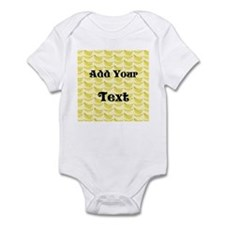 Banana Pattern with Custom Text Infant Bodysuit
