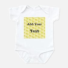 Banana Pattern with Custom Text Infant Bodysuit