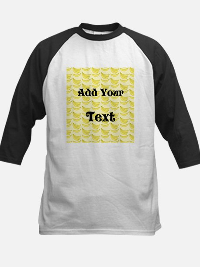 Banana Pattern with Custom Text Kids Baseball Jers
