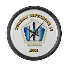Emblem - 9-11 Large Wall Clock