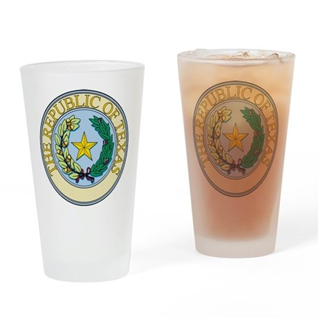 Republic of Texas Seal Drinking Glass