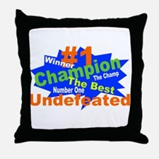 Number One Champ Throw Pillow