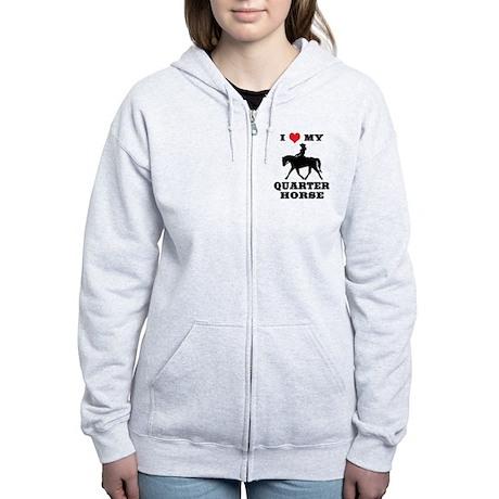 I Heart My Quarter Horse Women's Zip Hoodie