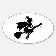 Isolated Witch Sticker (Oval)
