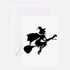 Isolated Witch Greeting Card