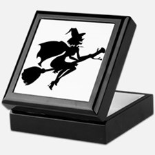 Isolated Witch Keepsake Box
