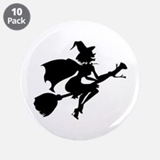 """Isolated Witch 3.5"""" Button (10 pack)"""