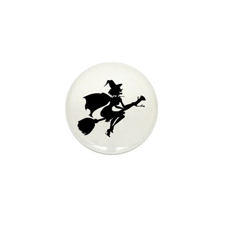 Isolated Witch Mini Button (10 pack)