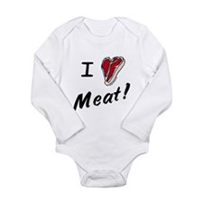 I heart meat, steak, paleo, low carb Baby Outfits