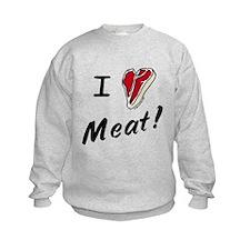 I heart meat, steak, paleo, low carb Sweatshirt