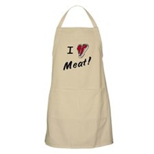 I heart meat, steak, paleo, low carb Apron