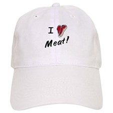 I heart meat, steak, paleo, low carb Baseball Cap
