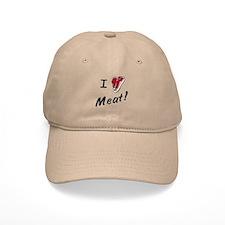 I heart meat, steak, paleo, low carb Baseball Baseball Cap