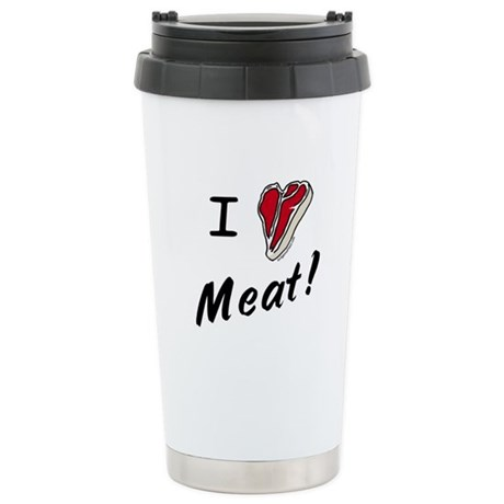 I heart meat, steak, paleo, low carb Stainless Ste