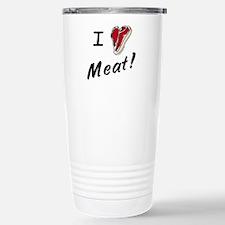 I heart meat, steak, paleo, low carb Travel Mug