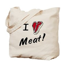 I heart meat, steak, paleo, low carb Tote Bag