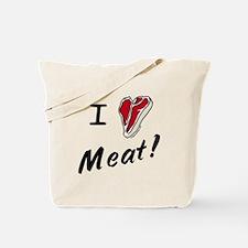 I heart meat, steak, paleo, low carb Tote Bag