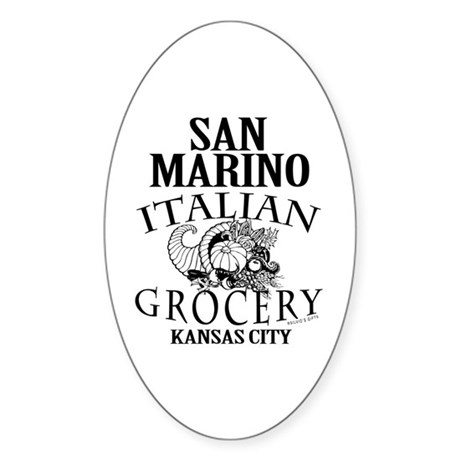 San Marino Italian Grocery Sticker (Oval)