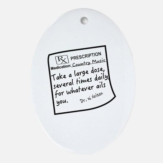 Cute Prescription Oval Ornament