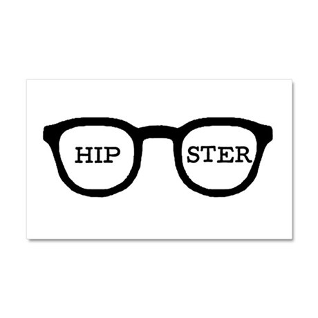 'Hipster' Car Magnet 20 x 12
