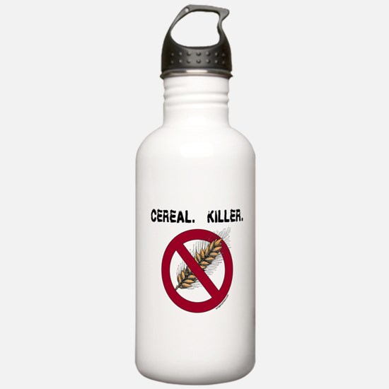 Cereal. Killer. with wheat, gluten free Water Bottle