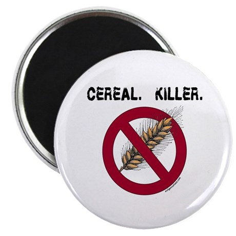 "Cereal. Killer. with wheat, gluten free 2.25"" Magn"