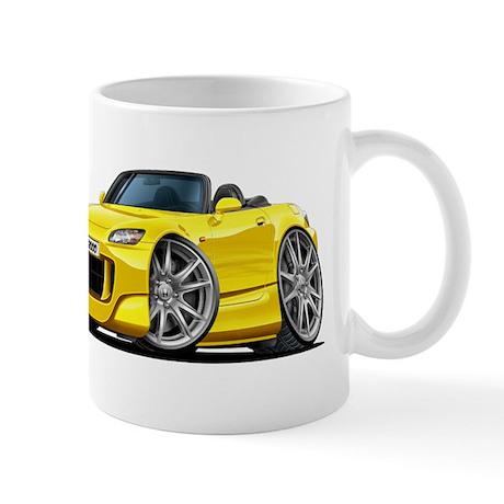 s2000 Yellow Car Mug