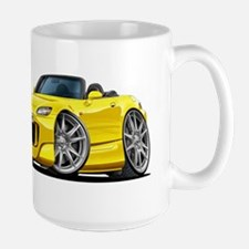 s2000 Yellow Car Large Mug