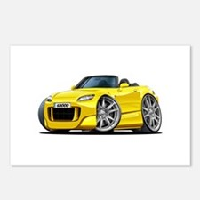 s2000 Yellow Car Postcards (Package of 8)