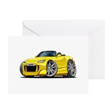 s2000 Yellow Car Greeting Card