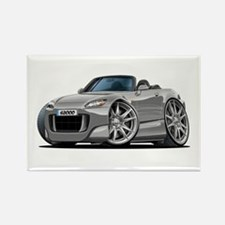 s2000 Silver Car Rectangle Magnet