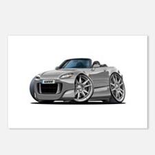 s2000 Silver Car Postcards (Package of 8)