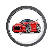 s2000 Red Car Wall Clock