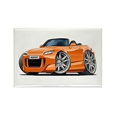 s2000 Orange Car Rectangle Magnet
