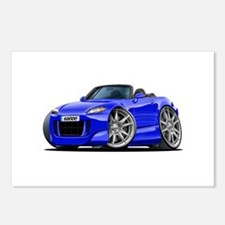 s2000 Blue Car Postcards (Package of 8)