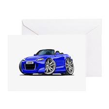 s2000 Blue Car Greeting Card