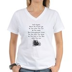 Wigner's Friend Limerick Women's V-Neck T-Shirt
