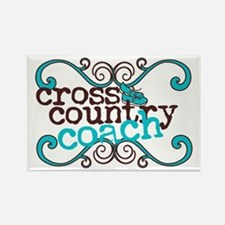Cross Country Coach Rectangle Magnet