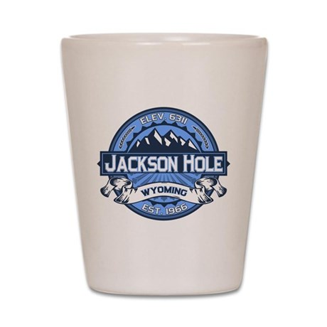 Jackson Hole Blue Shot Glass