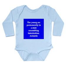 Wisdom of Aristotle Long Sleeve Infant Bodysuit