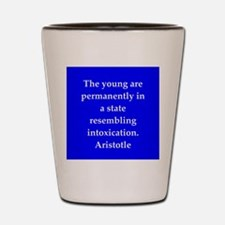 Wisdom of Aristotle Shot Glass