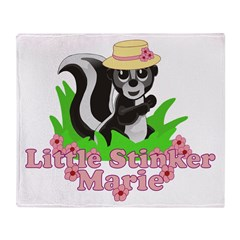 Little Stinker Marie Throw Blanket