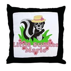 Little Stinker Marie Throw Pillow