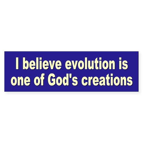 evolution... Bumper Sticker