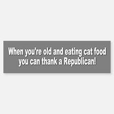 cat food... Bumper Bumper Bumper Sticker