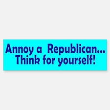 think... Bumper Bumper Bumper Sticker