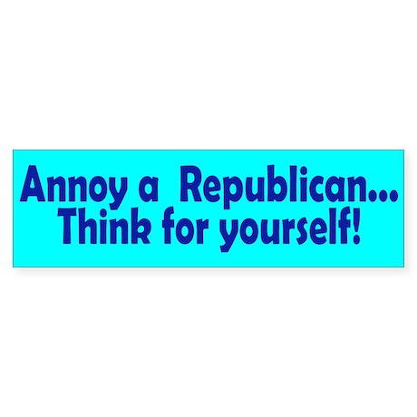 think... Bumper Sticker