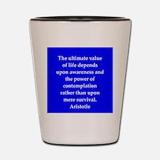 Wisdom of Aristotle Shot Glass